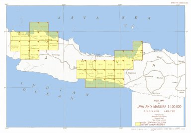 Index map of Java and Madura (Indonesia) 1:100,000