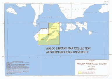 Index map of Amboina Archipelago 1:50,000