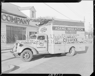 Adams Insulation Company, delivery truck