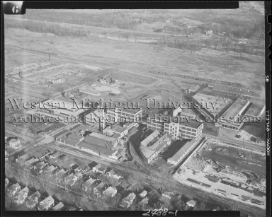 Fuller Manufacturing Company and surrounding, aerial view