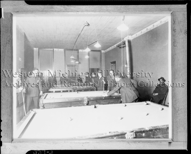 Douglass Community Center, interior, pool room
