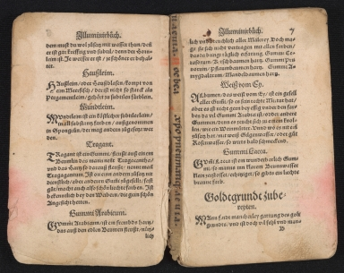 Liturgical Manuscript Leaf [binding fragment], open book with binding fragment