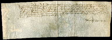 Receipt, 1486 July 16, for the final payment of the settlement of the late King Louis XI