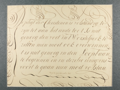 Dutch Calligraphic Aphorism