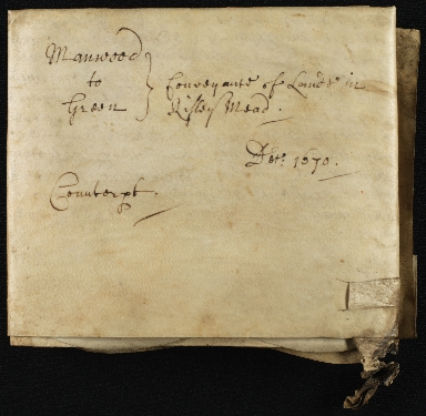 Lease, 1670, of Land to John Manwood of Broomfield, Essex