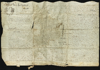 Lease, 1625, of Land in Great Abington to Thomas Warde
