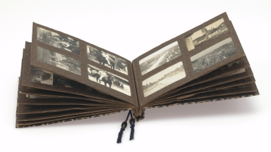 World War I German soldier's photograph album 1, open