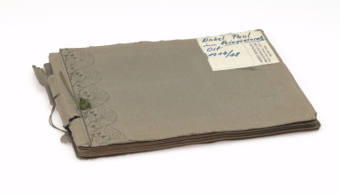 Paul Hohendorn, World War I German soldier's photograph album 3, front