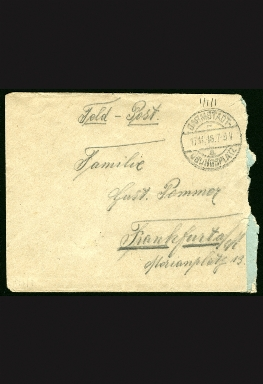 Paul Pommer correspondence, 1916-11-15, World War I