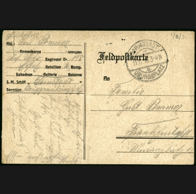 Paul Pommer correspondence, 1916-11-10, World War I