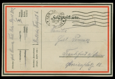 Paul Pommer correspondence, 1918-01-04, World War I