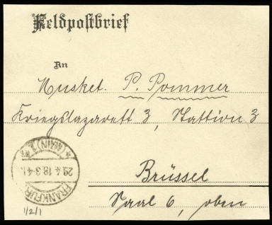 Paul Pommer correspondence, 1918-04-18, World War I
