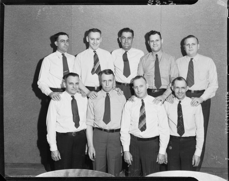Consumers' Power Company, bowling team, group portrait
