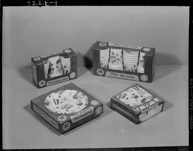 Sutherland Paper Company, TV brand paper plates, napkins, and cups