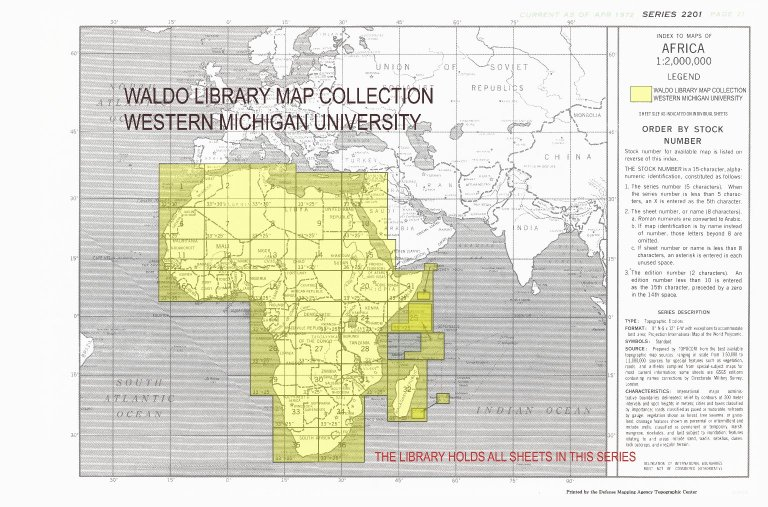 Index to maps of Africa 1:2,000,000