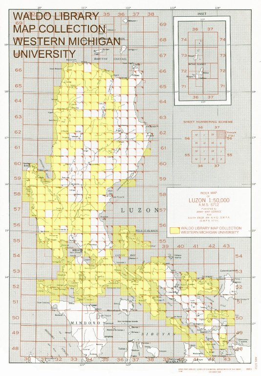 Index map of Luzon 1:50,000