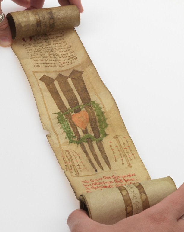 Prayer Roll in Middle English and Latin (open)