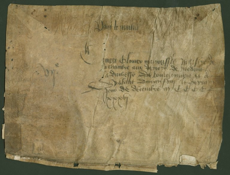 Compte, 1436 December 31, Between Olivier Mairousse and the Duchess of Burgundy