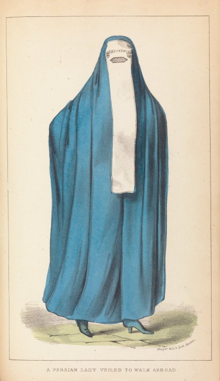 A Persian Lady Veiled to Walk Abroad