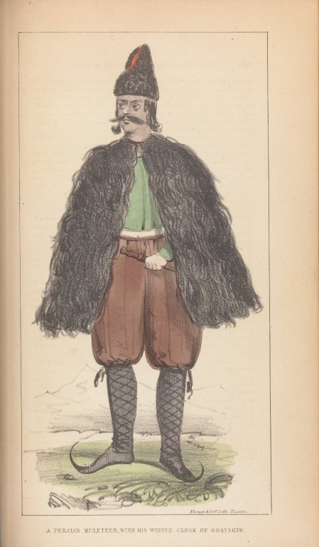 A Persian Muleteer, with His Winter Cloak or Goatskin