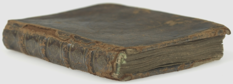 Iconography of fifty hand colored full-figure drawings of male and female members of religious orders in their habits, fore edge and spine