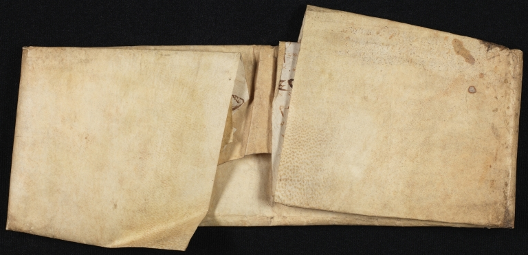 Conveyance, 1659, of Land in Great Dunmow to Richard Phillips, folded, back