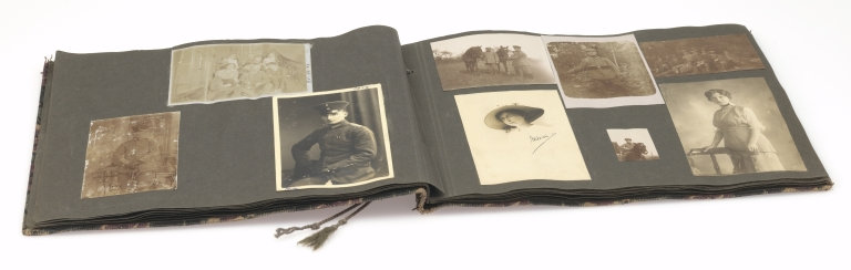 World War I German soldier's photograph album 2, open