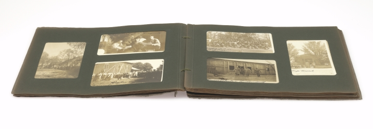 Paul Hohendorn, World War I German soldier's photograph album 3, open