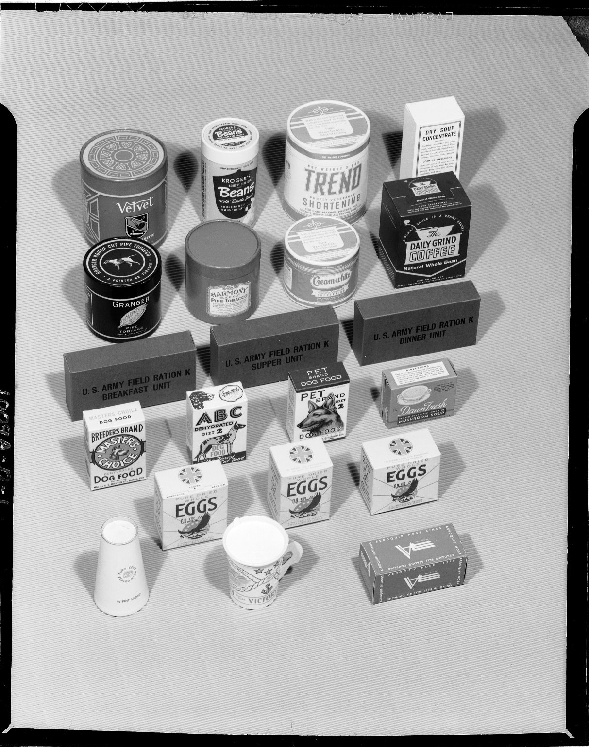 Sutherland Paper Company, paperboard cartons made including U.S. Army Field Ration K boxes