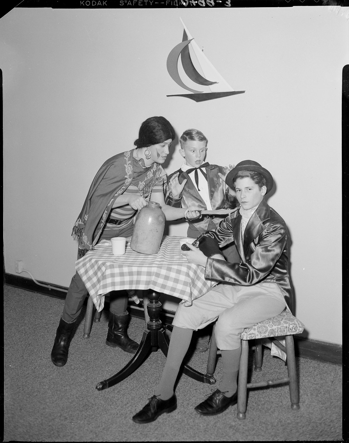 Barbour Hall Academy, youths acting in a play
