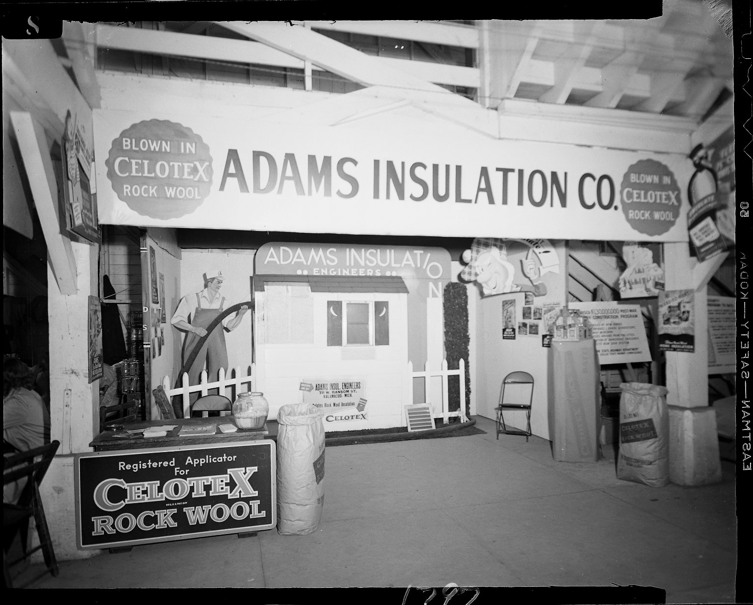 Adams Insulation display booth at Kalamazoo County Fair