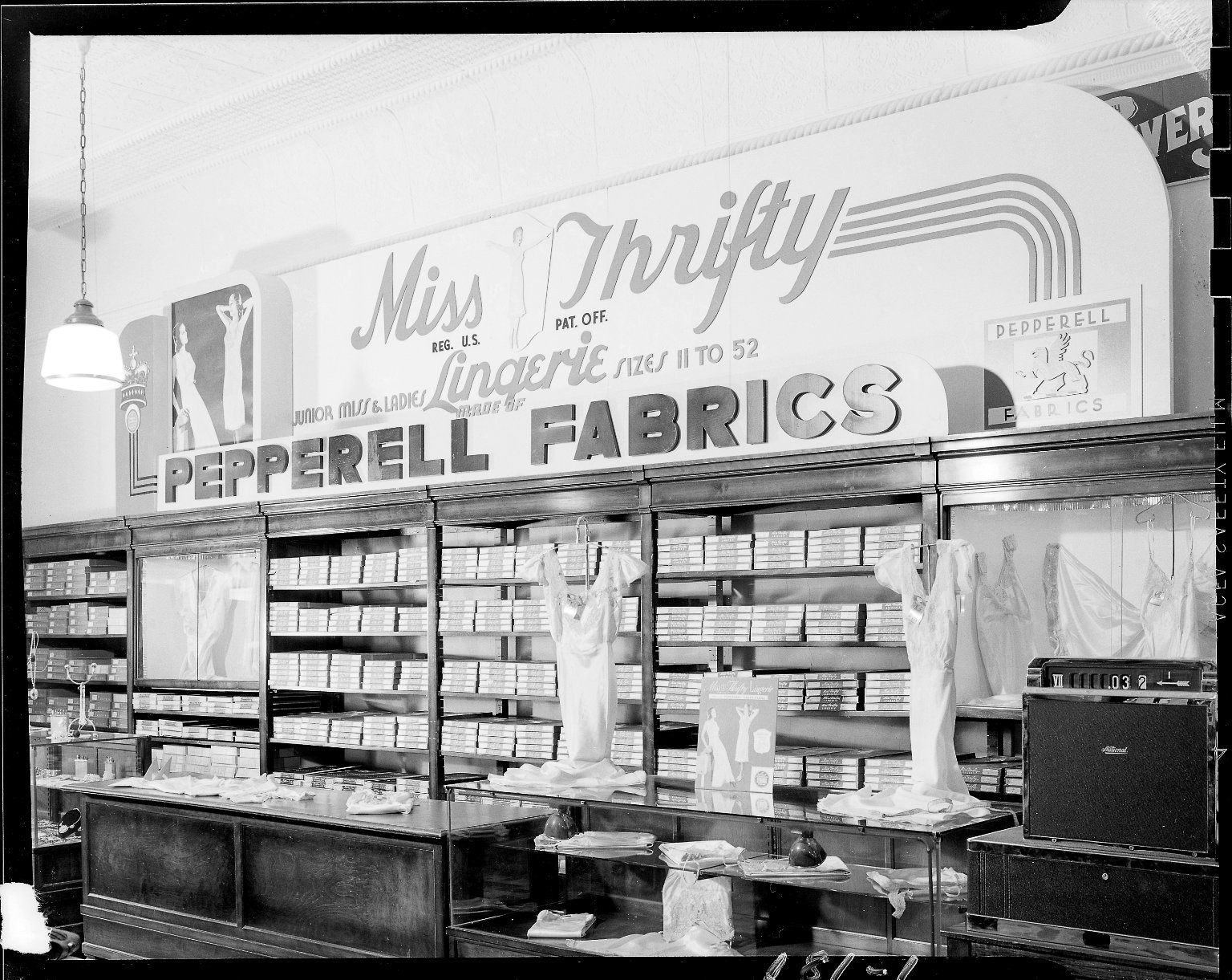 Power's Department Store, Miss Thrifty Lingerie display