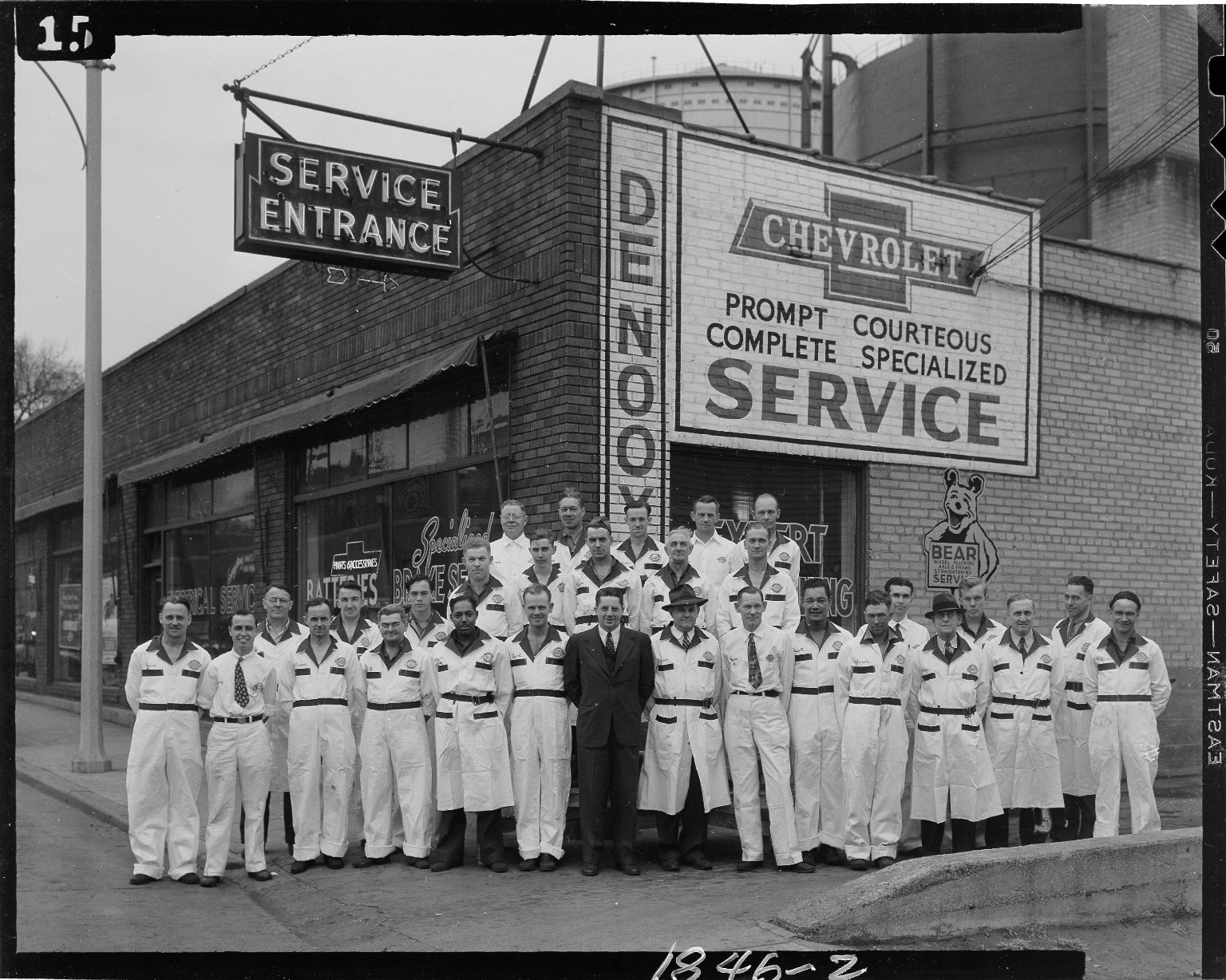 DeNooyer Chevrolet, group portrait, service employees