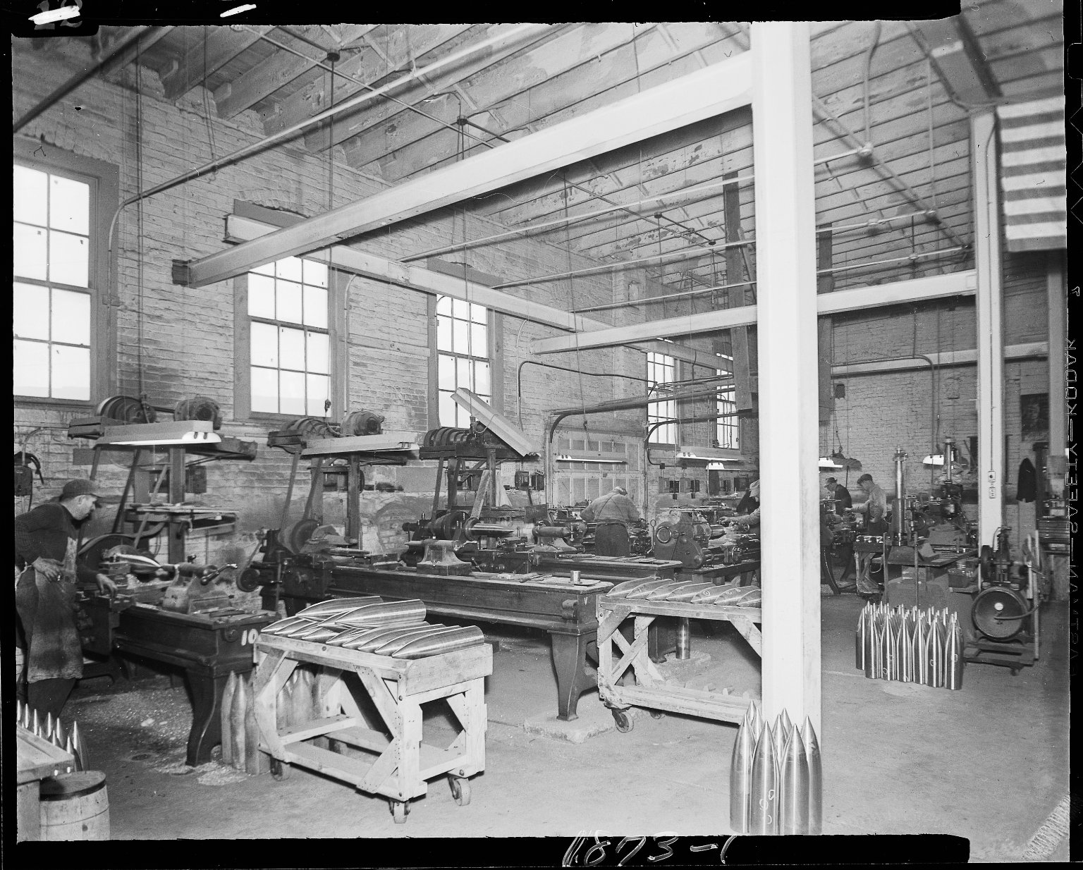 Ammunition shells industrial plant, interior