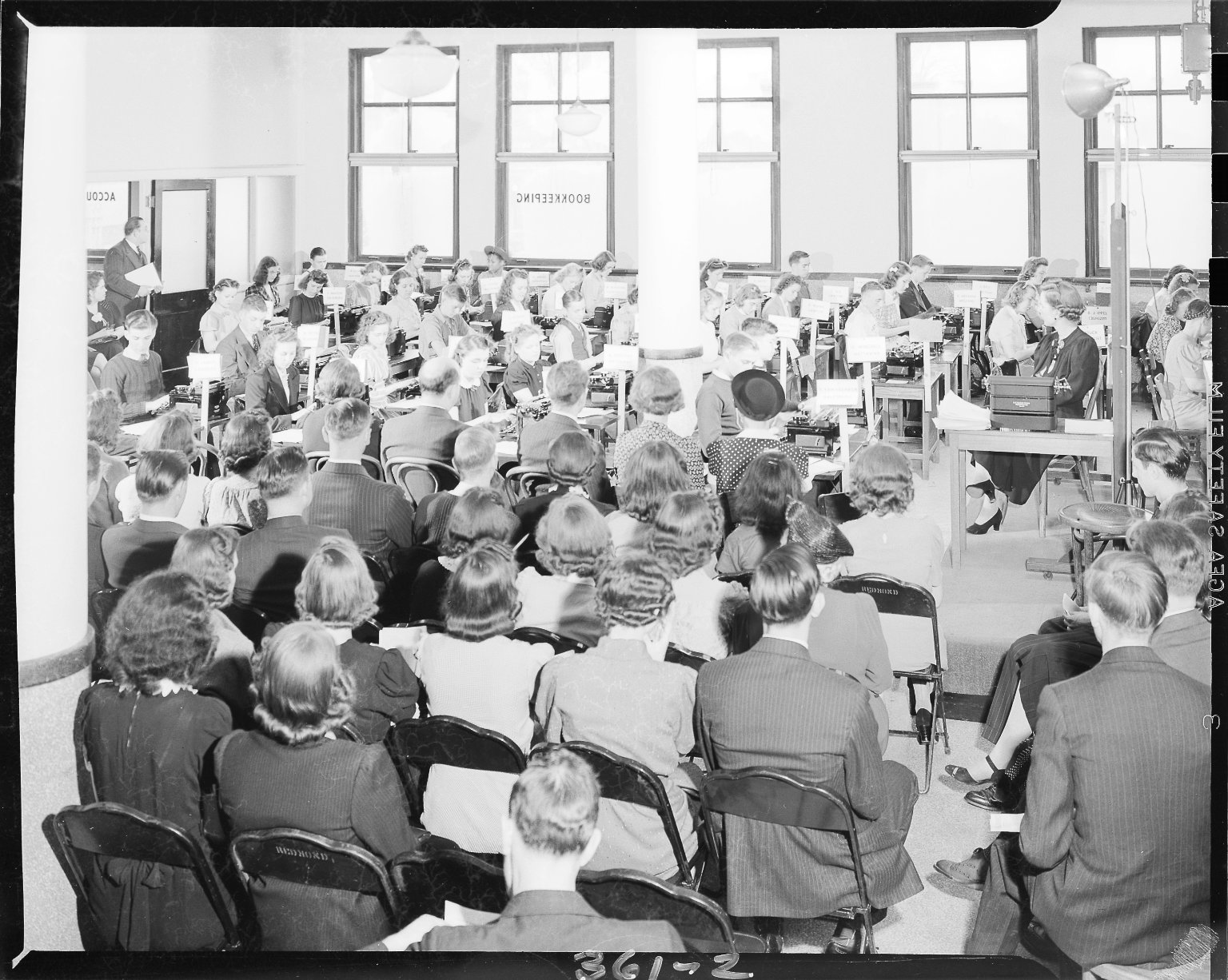 Maher's Business College, typing contest