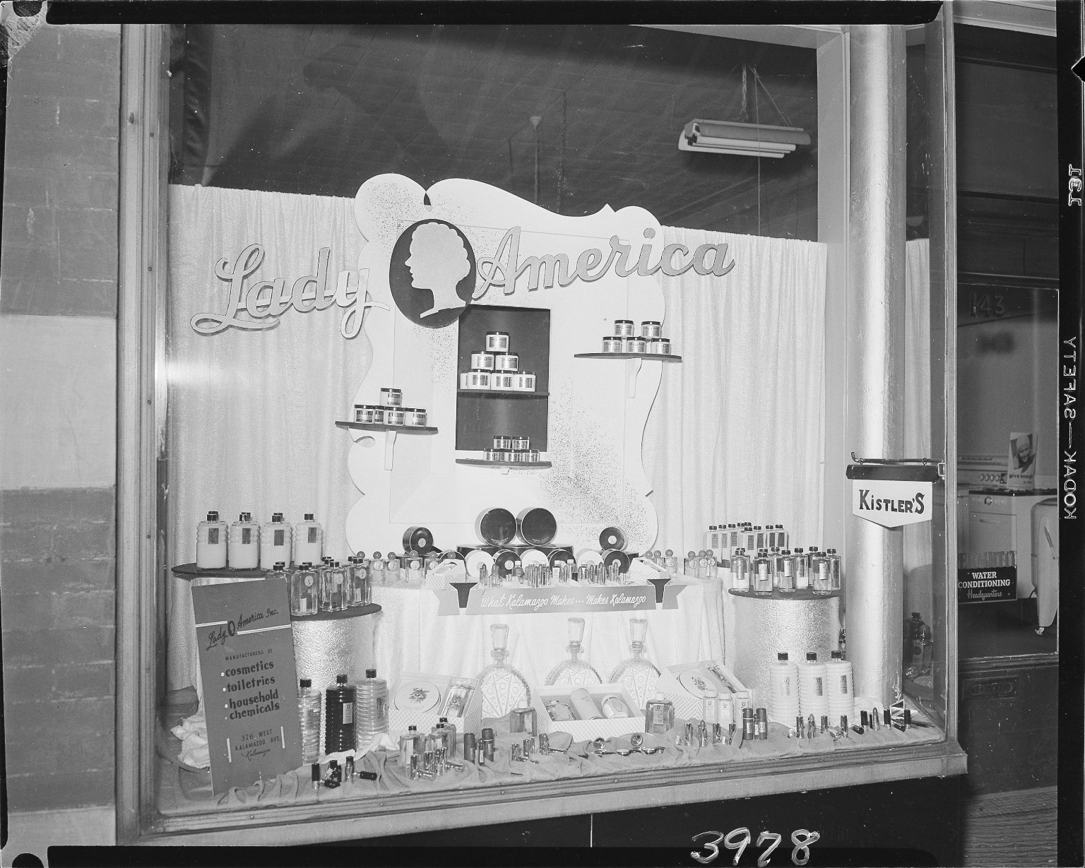 Lady America Home Products, window display in Stanwood's Appliance Store