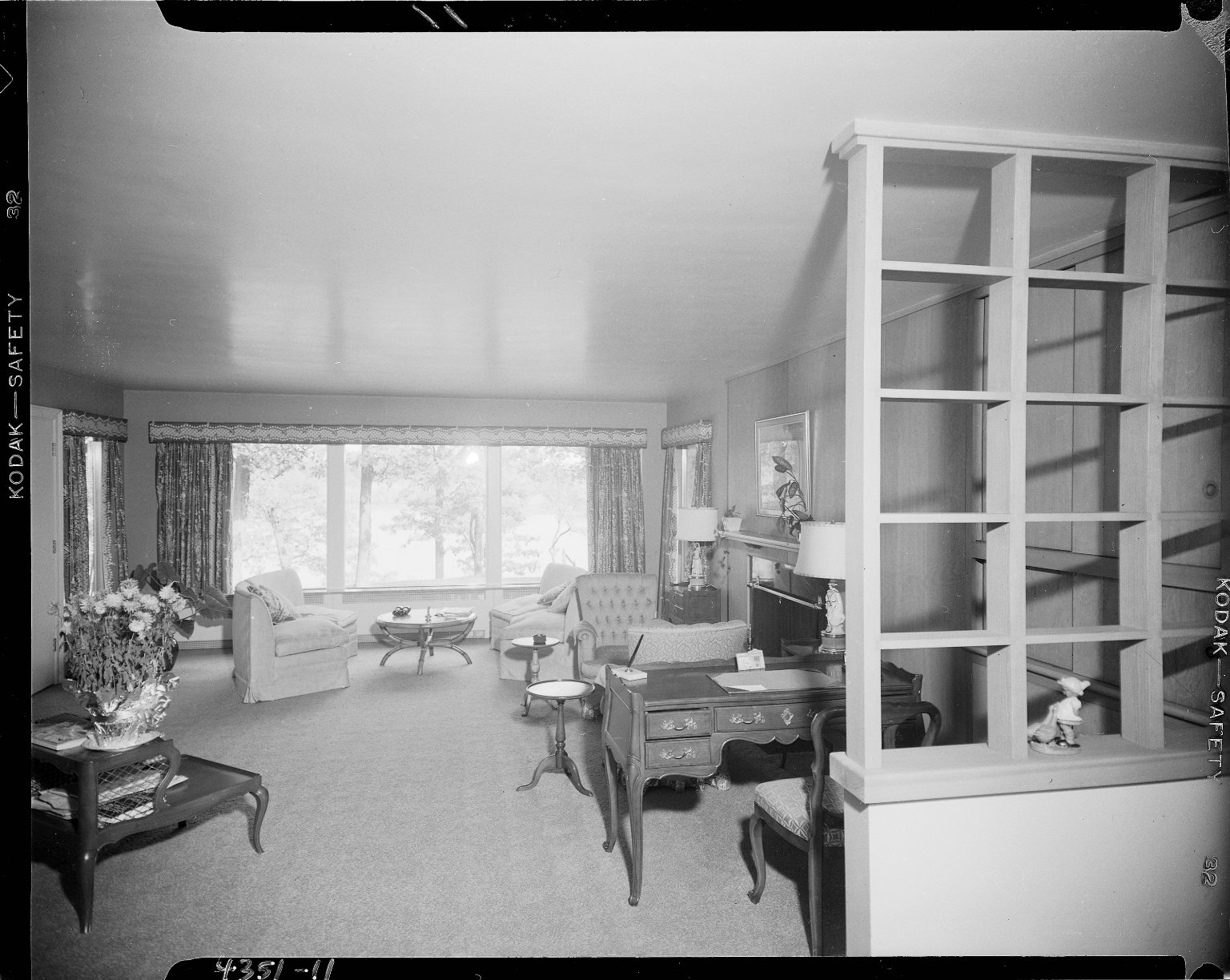 Miller Lumber Company, home interior, living room with room divider