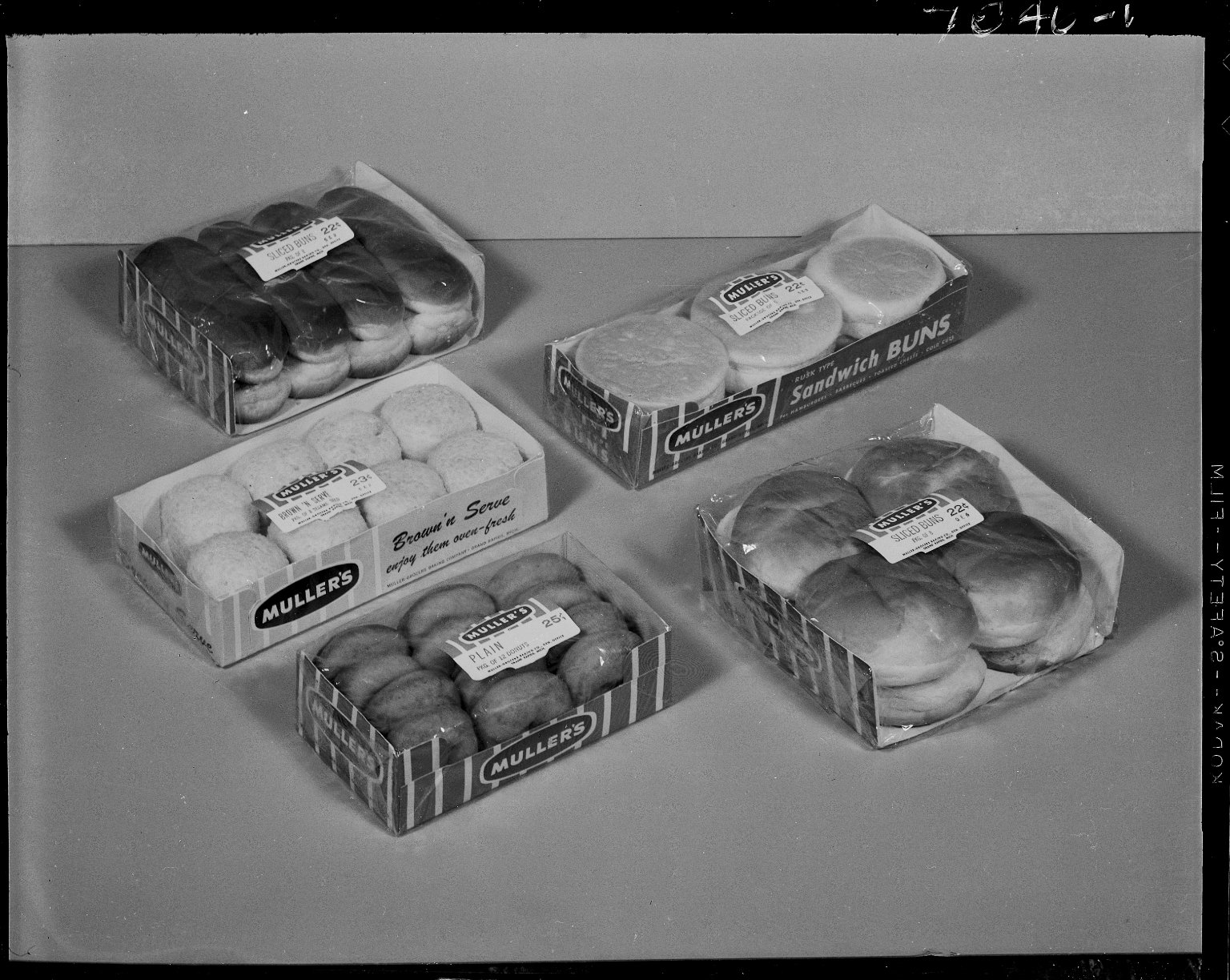 Sutherland Paper Company, break packaging for Muller's Grocers Baking Company