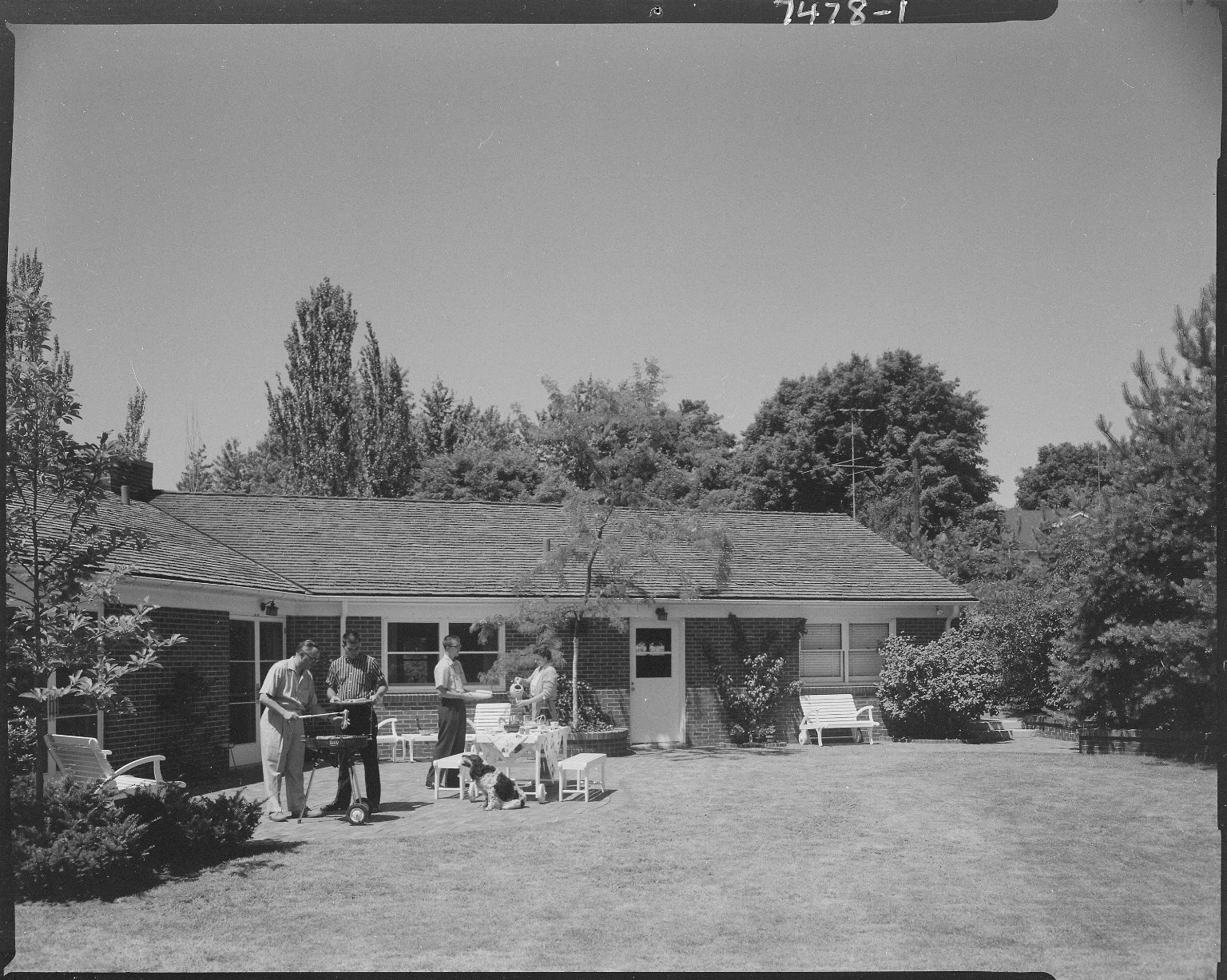 Robert Britigan Home, backyard picnic
