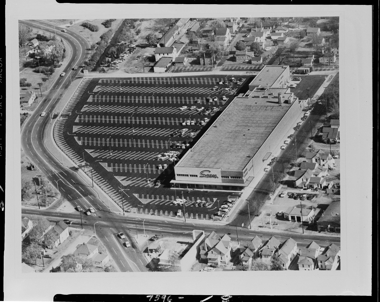 Sears Store and surrounding area, aerial view