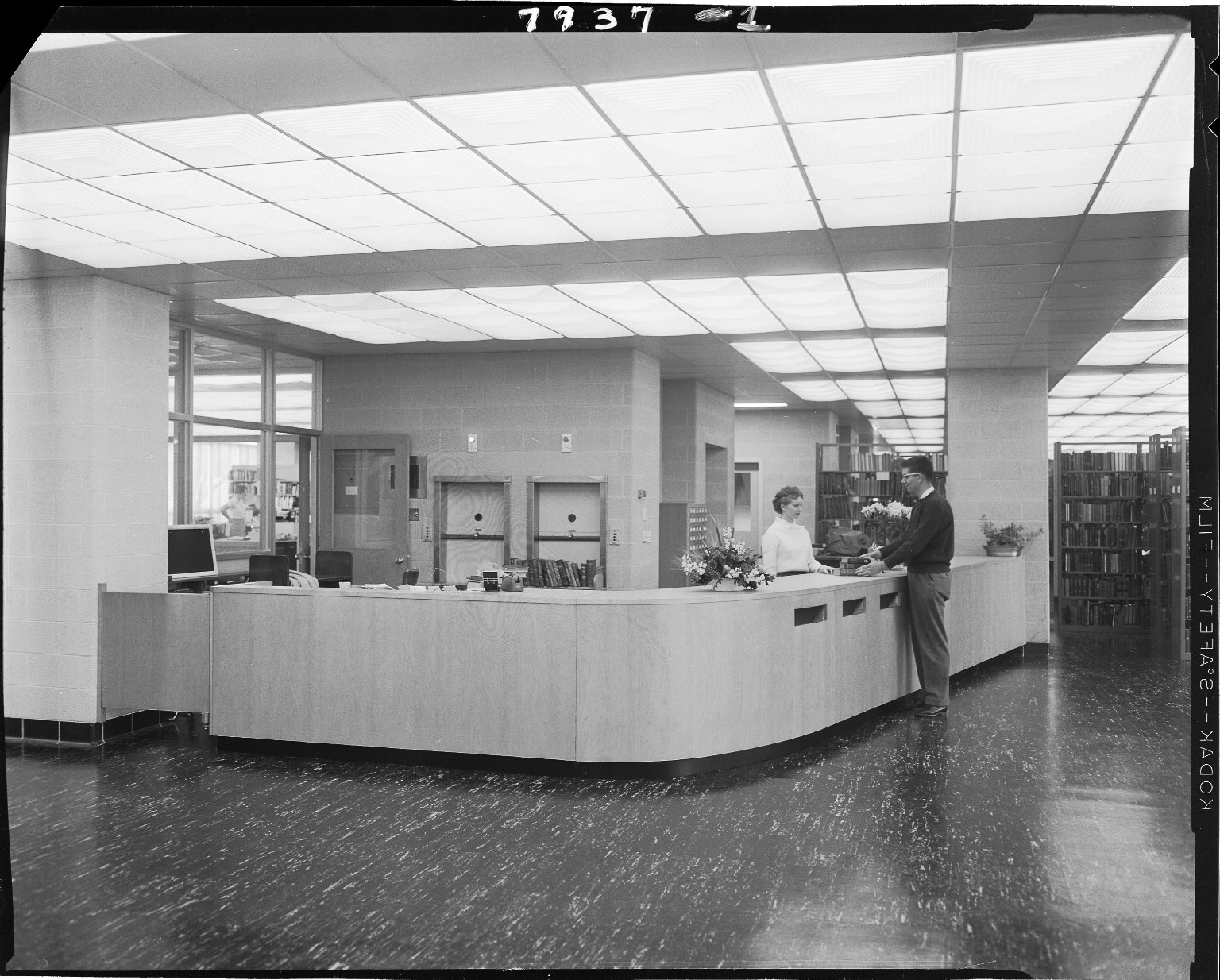 Western Michigan University, Dwight B. Waldo Library, interior, circulation desk