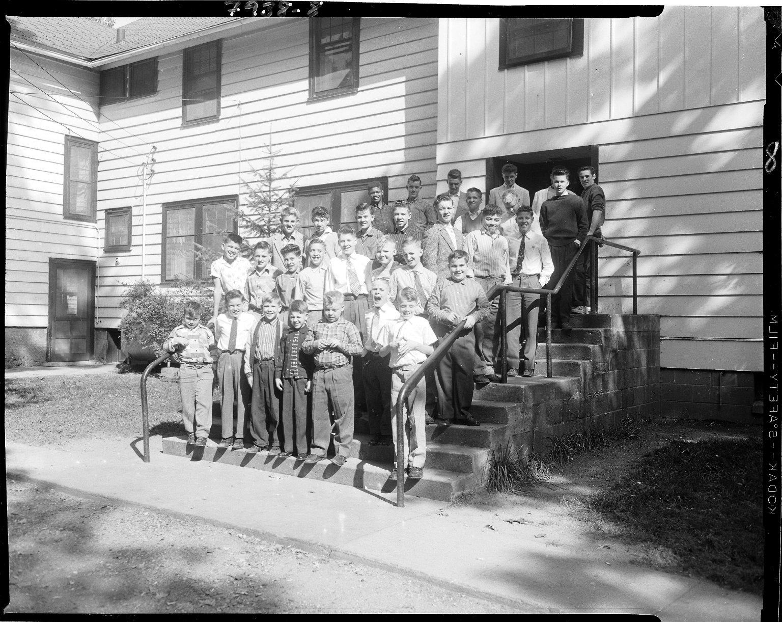 Lake Farm Boys Home, Kalamazoo, exterior, group portrait of boys