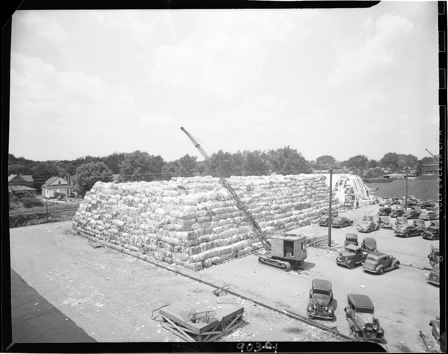 Sutherland Paper Company, bales of shredded paper