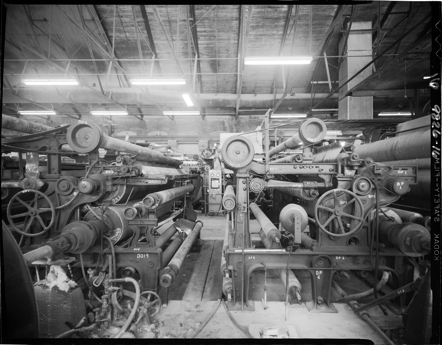 Kalamazoo Paper Company, interior, showing papermaking machine