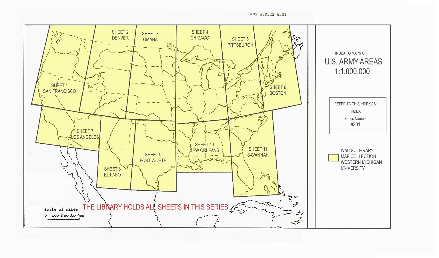 Index to maps of U.S. Army areas 1:1,000,000
