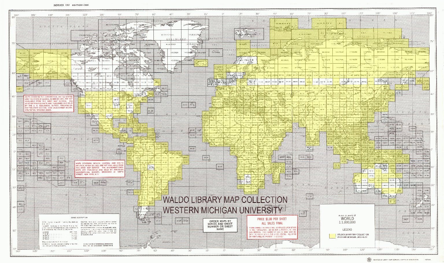 Index to maps of world 1:1,000,000