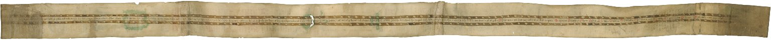 Prayer Roll in Middle English and Latin, verso