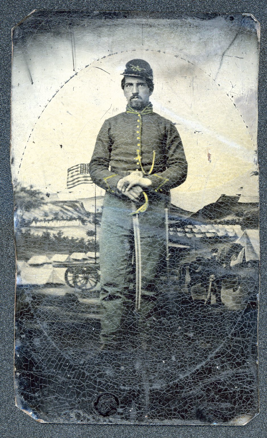 U. S. Civil War soldier portrait [enhanced]