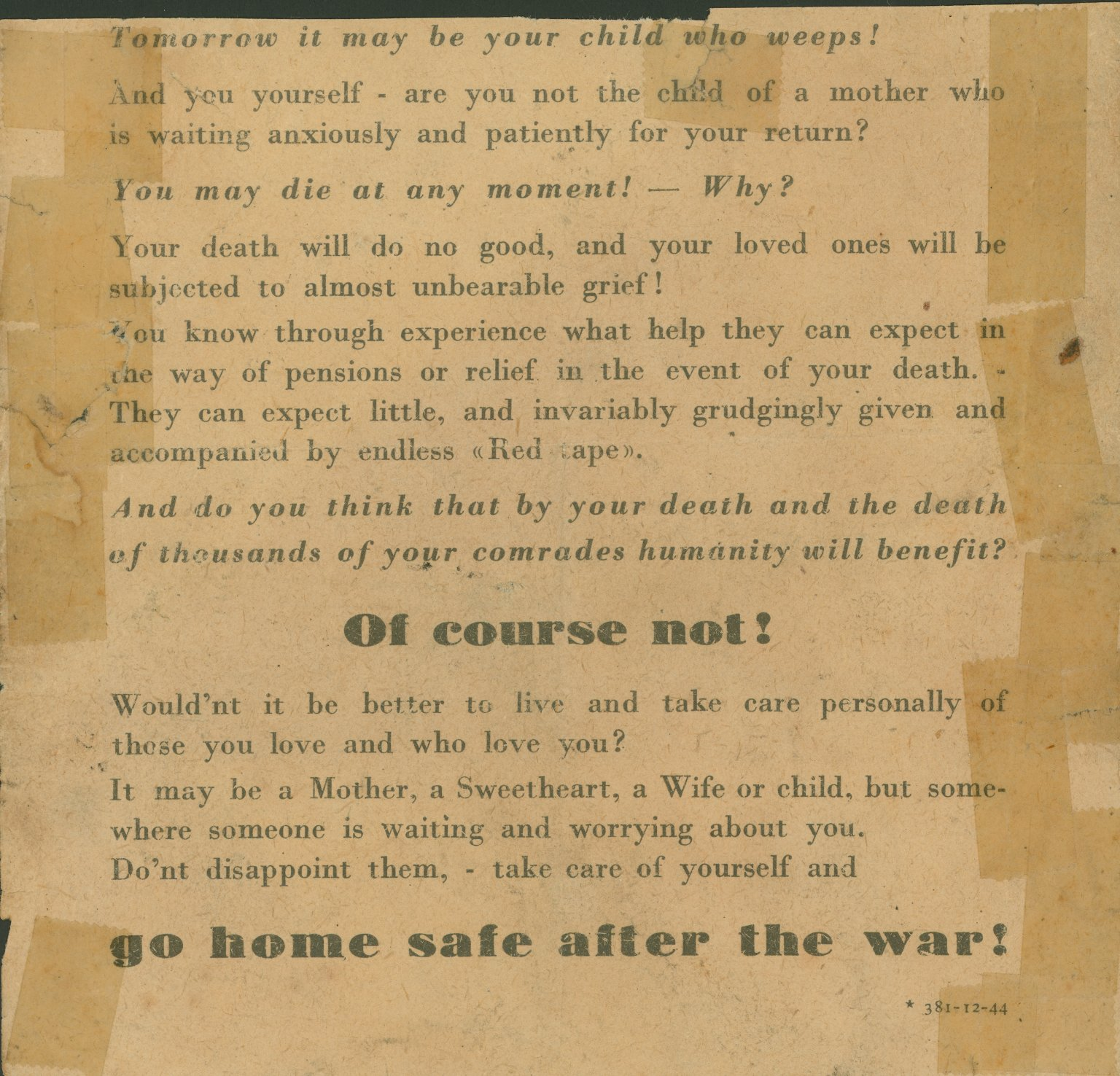 World War II Propaganda Collections