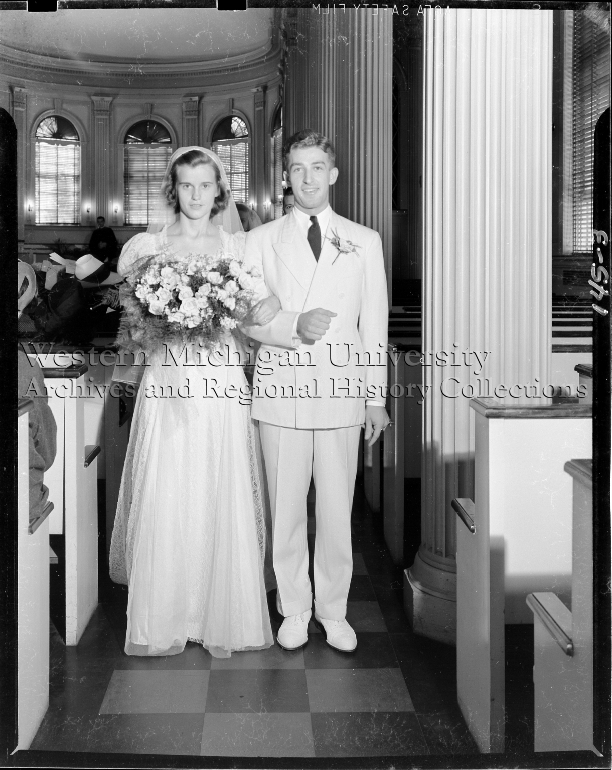 Wedding portrait, Mrs. and Mr. Mitchell J. Chojnowski